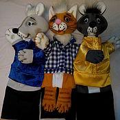 Куклы и игрушки ручной работы. Ярмарка Мастеров - ручная работа Тише мыши-кот на крыше. Театральные перчаточные куклы.. Handmade.