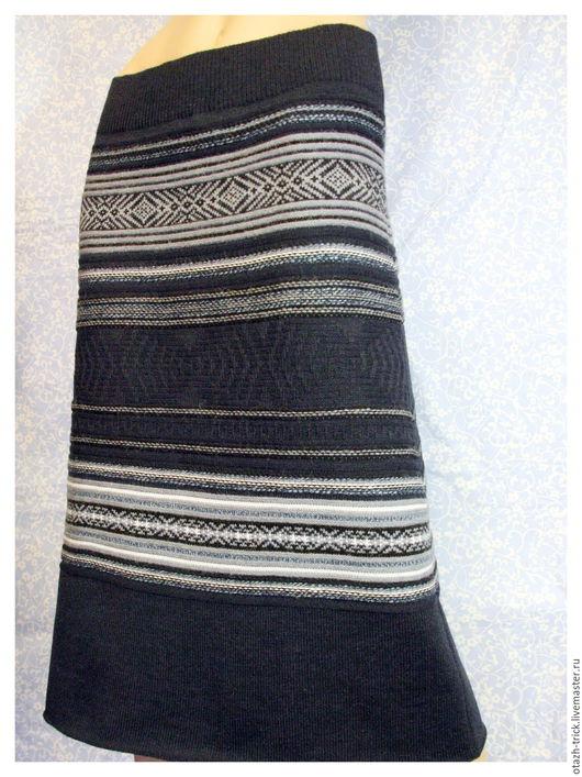 """Юбки ручной работы. Ярмарка Мастеров - ручная работа. Купить Юбка """"Ночная синева"""". Handmade. Тёмно-синий, вязаная юбка"""