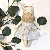 Тильда Зверята ручной работы. Ярмарка Мастеров - ручная работа Кукла кошечка. Handmade.