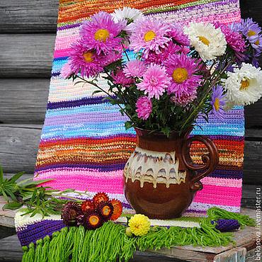 """Для дома и интерьера ручной работы. Ярмарка Мастеров - ручная работа Коврик """"Астры цветут"""". Handmade."""