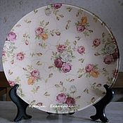 "Посуда ручной работы. Ярмарка Мастеров - ручная работа Тарелка""бабушкин фарфор"". Handmade."