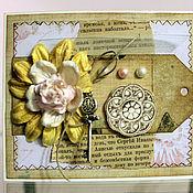 """Открытки ручной работы. Ярмарка Мастеров - ручная работа Открытка """"Нежный цветок"""". Handmade."""