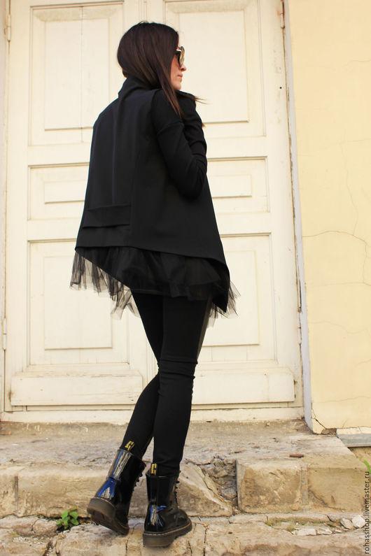 R00046 Жилет черный шерстяной жилет стильный жилет модный жилет красивый жилет вещь на выход одежда на выход кардиган черный пиджак красивый пиджак нарядный пиджак мода 2015Жилет черный шерстяной