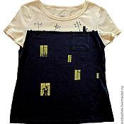 """Одежда ручной работы. Ярмарка Мастеров - ручная работа футболка """"Вечер. Дом"""". Handmade."""