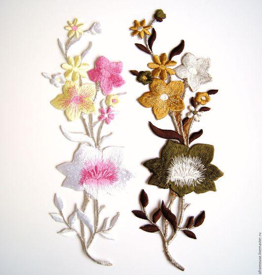 термоапликации `Длинная веточка с цветком`