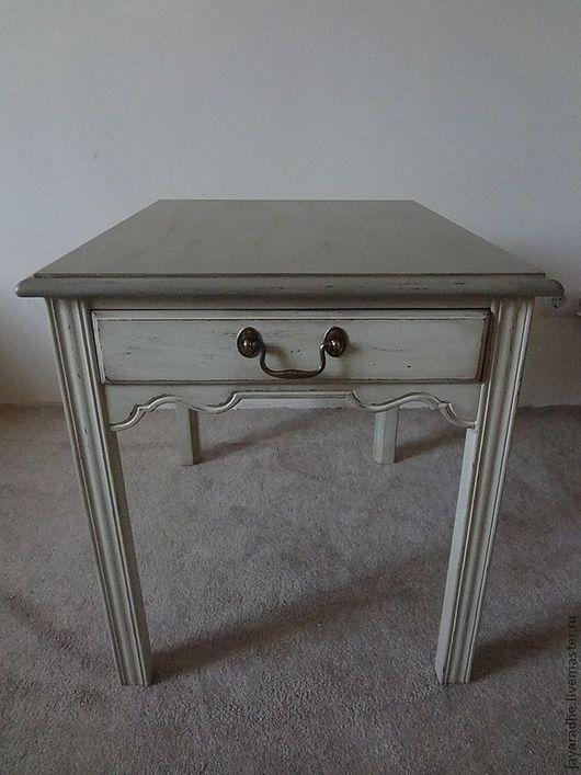 Мебель ручной работы. Ярмарка Мастеров - ручная работа. Купить Столик для Милы. Handmade. Оливковый, столик придиванный, американская мебель