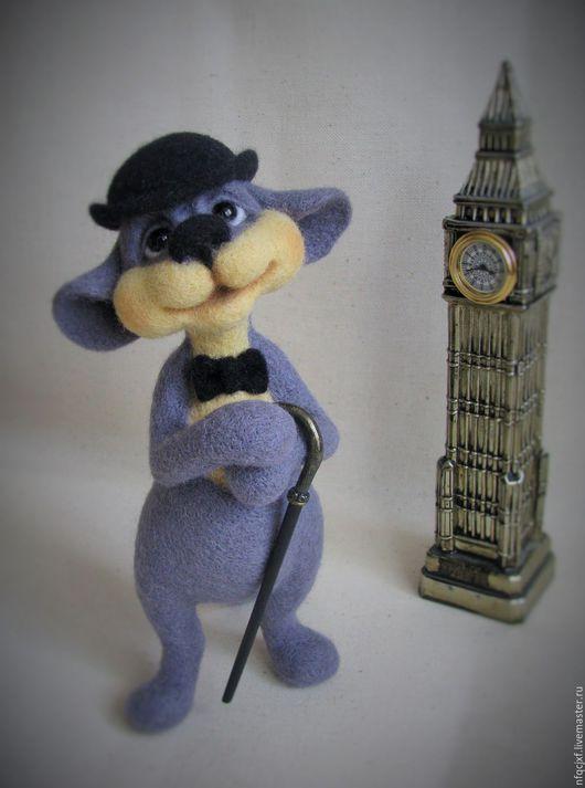"""Игрушки животные, ручной работы. Ярмарка Мастеров - ручная работа. Купить """"Sir Grey"""". Handmade. Серый, мышь, шляпа"""