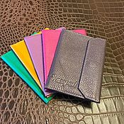 Канцелярские товары handmade. Livemaster - original item Leather passport cover Flap. Handmade.