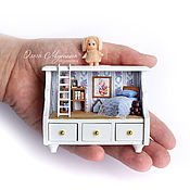Куклы и игрушки ручной работы. Ярмарка Мастеров - ручная работа Домик в кукольный домик. Handmade.