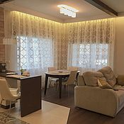 Для дома и интерьера handmade. Livemaster - original item Curtains in the living room Prestige. Handmade.