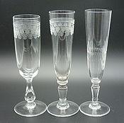 Винтаж handmade. Livemaster - original item Glasses, wine GLASSES, 15,5 cm. late 19th early 20th century. RUSSIA. Maltsev. Handmade.