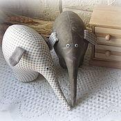 Куклы и игрушки handmade. Livemaster - original item A couple of elephants Surprised and attentive)))))). Handmade.