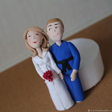 Свадебный салон ручной работы. Ярмарка Мастеров - ручная работа Фигурки на свадебный торт из полимерной глины. Handmade.