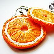 """Украшения ручной работы. Ярмарка Мастеров - ручная работа Серьги """"Апельсины"""". Handmade."""