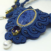 Украшения handmade. Livemaster - original item Soutache necklace with dumortierite