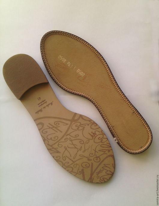 Валяние ручной работы. Ярмарка Мастеров - ручная работа. Купить Подошва для обуви а.60508 (Италия). Handmade. Подошва