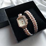 handmade. Livemaster - original item Watch winding of natural pearls.. Handmade.
