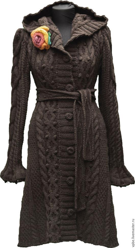 """Верхняя одежда ручной работы. Ярмарка Мастеров - ручная работа. Купить Пальто """"Инфанта"""". Handmade. Коричневый"""