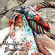 """Колье, бусы ручной работы. Ярмарка Мастеров - ручная работа. Купить Оплетенный бисером платок """"Любовь цвета лета"""". Handmade."""