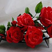 Цветы ручной работы. Ярмарка Мастеров - ручная работа Нас розы нежный аромат манит ...... Handmade.
