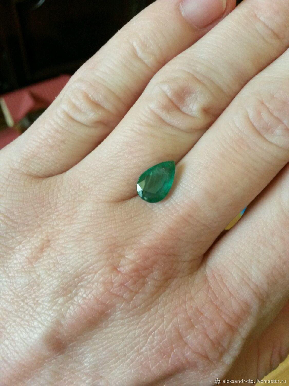 Natural emerald 11h7mm, Cabochons, Vilnius,  Фото №1