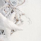 Для дома и интерьера ручной работы. Ярмарка Мастеров - ручная работа Интерьерный венок в шебби-стиле, белый венок. Handmade.