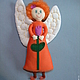 Человечки ручной работы. Ярмарка Мастеров - ручная работа. Купить Кукла Рыжий ангел. Handmade. Разноцветный, ангел, кукла