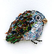 Аппликации ручной работы. Ярмарка Мастеров - ручная работа Авторская нашивка (аппликация) ручной работы Птенец. Handmade.
