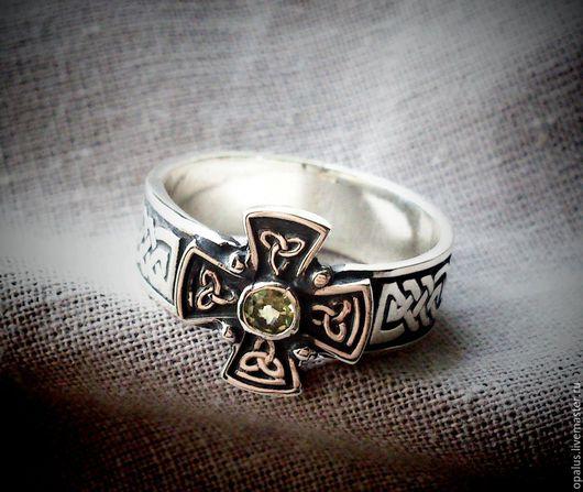 """Украшения для мужчин, ручной работы. Ярмарка Мастеров - ручная работа. Купить Кольцо """"Celtic"""". Handmade. Серебряное кольцо, кольцо с хризопразом"""