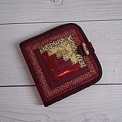 Сумки и аксессуары handmade. Livemaster - original item Patchwork wallet, Bordeaux, Patchwork, Purse, Textile, Russian. Handmade.