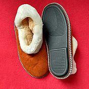 Обувь ручной работы handmade. Livemaster - original item The red chuni of Mouton.Solid sole. Handmade.