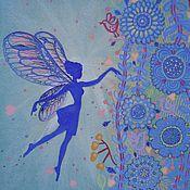 Картины и панно ручной работы. Ярмарка Мастеров - ручная работа Царица Фей. Графика картина в детскую. Handmade.