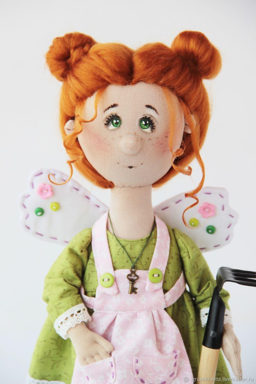 Садовая фея Мелисса. Интерьерная кукла, Тыквоголовка, Курск,  Фото №1