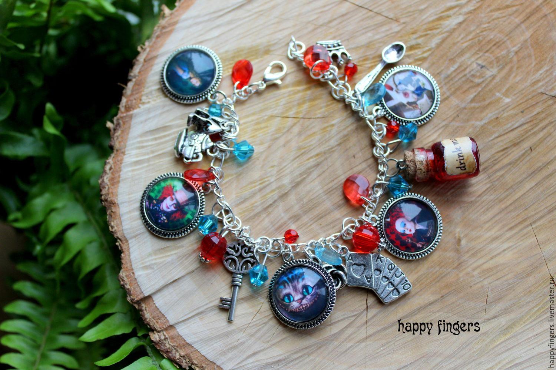Bracelet 'Alice in Wonderland' Cheshire cat Hatter, Bead bracelet, Elektrostal,  Фото №1