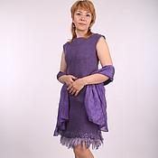 """Одежда ручной работы. Ярмарка Мастеров - ручная работа валяное платье """"Dark purple"""". Handmade."""