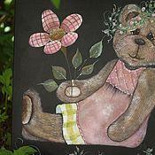 """Картины и панно ручной работы. Ярмарка Мастеров - ручная работа Панно """"Цветочница"""". Handmade."""