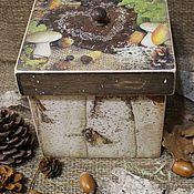 """Для дома и интерьера ручной работы. Ярмарка Мастеров - ручная работа Короб """" Дары леса """". Handmade."""