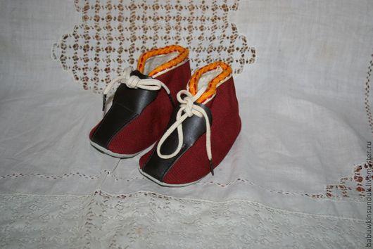 Одежда. Ярмарка Мастеров - ручная работа. Купить Ботиночки-пинетки № 8 винтаж. Handmade. Ботиночки, пинетки, для мишки, для куклы