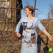 Одежда ручной работы. Ярмарка Мастеров - ручная работа Платье валяное небесно-голубое. Handmade.