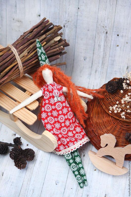 Куклы Тильды ручной работы. Ярмарка Мастеров - ручная работа. Купить Новогодняя куколка Тильда. Handmade. Комбинированный, рождество
