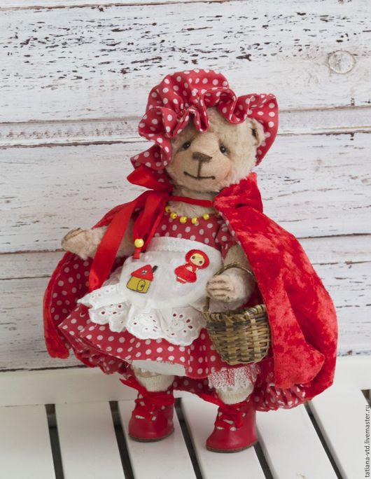 Мишки Тедди ручной работы. Ярмарка Мастеров - ручная работа. Купить Красная Шапочка. Handmade. Ярко-красный, тедди, костюм