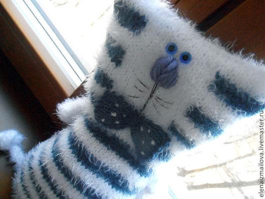 Игрушки животные, ручной работы. Ярмарка Мастеров - ручная работа. Купить Котик морской полосатый круизно-подарочный. Handmade. Синий