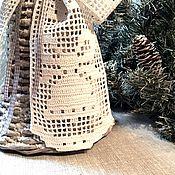 Подарки к праздникам ручной работы. Ярмарка Мастеров - ручная работа Большой колокольчик с филейным бантом. Handmade.