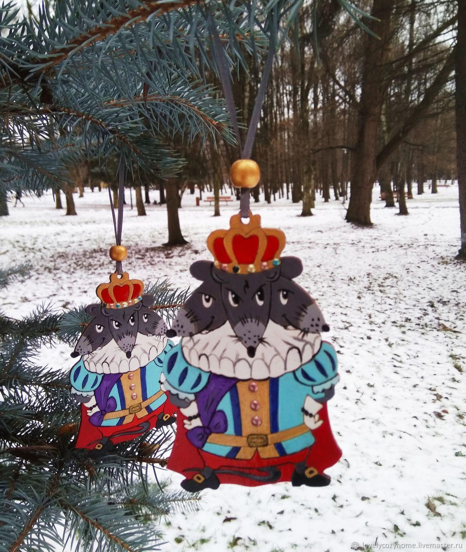 Мышиный Король.Елочная игрушка.Новогодняя игрушка.Сказки Гофмана, Елочные игрушки, Москва,  Фото №1