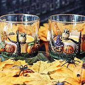 """Для дома и интерьера ручной работы. Ярмарка Мастеров - ручная работа Подсвечники """"Happy Halloween"""". Handmade."""