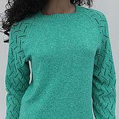 """Пуловеры ручной работы. Ярмарка Мастеров - ручная работа Пуловер """"Нефритовый меланж"""". Handmade."""