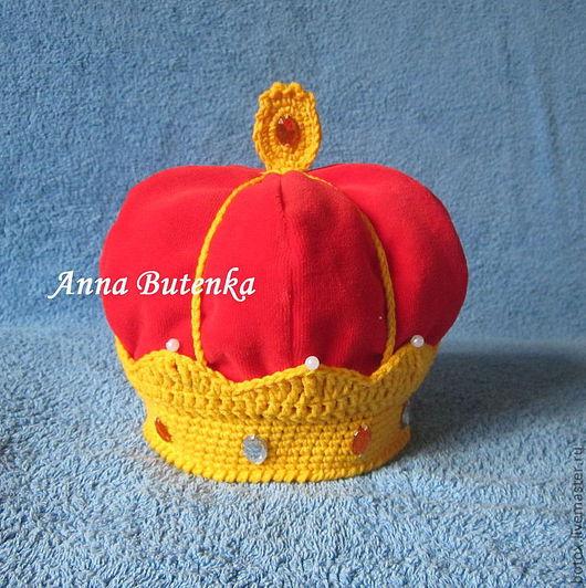 """Для новорожденных, ручной работы. Ярмарка Мастеров - ручная работа. Купить """"Корона Российской Империи"""" для фотосессий. Handmade. Ярко-красный"""