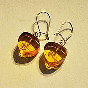 Украшения handmade. Livemaster - original item Amber. Earrings made of natural amber