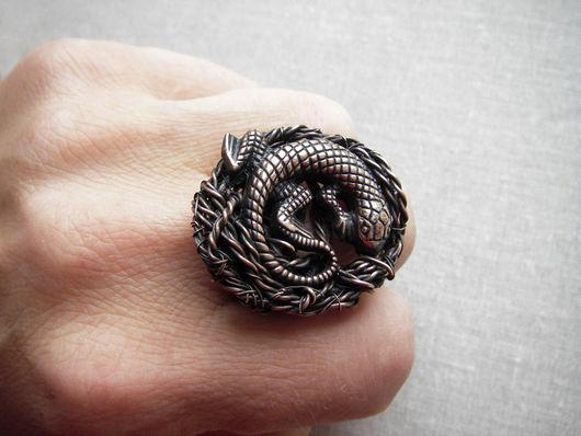 """Кольца ручной работы. Ярмарка Мастеров - ручная работа. Купить Кольцо """"Ящерка"""". Handmade. Кольцо, ящерка"""