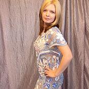 """Одежда ручной работы. Ярмарка Мастеров - ручная работа Авторское платье   -""""Голубая нежность"""". Handmade."""